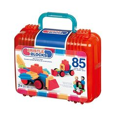 Bristle Blocks Big Value Case 85 pc Building Set comes neatly packed in a carrying case with handle and features 80 interlocking blocks and 5 family figurines. Fisher Price, Triangulo Isosceles, Value Set, Stacking Blocks, Mattel, Developmental Toys, Great Christmas Gifts, Christmas 2015, Christmas Toys