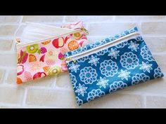 すぐできるフラットポーチの作り方★マスクケース★kcoton★ How to make an easy zipper pouch Zipper Bags, Zipper Pouch, Sewing Projects, Projects To Try, Personal Hygiene, Hand Art, Sewing Box, Tissue Holders, Small Bags