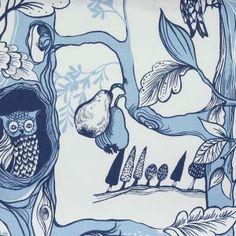 Prestigious Textiles   Squirrel Chase  Fabric - Cornflower 5873/518