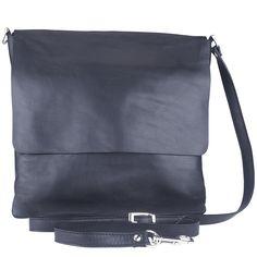 Genuine Baggage - MarlaFiji Richard black Italian leather messenger bag, $191.60 (http://www.genuinebaggage.com.au/marlafiji-richard-black-italian-leather-messenger-bag/)