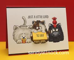 Guest Designer Sandy Allnock: Copic Coloring Cats and like OMG! get some yourself some pawtastic adorable cat shirts, cat socks, and other cat apparel by tapping the pin!