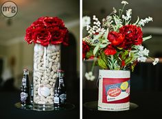 Diy baseball centerpieces I made.