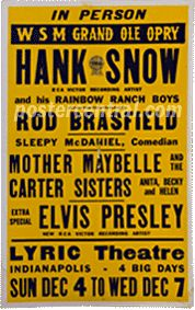 Elvis Presley with Hank Snow and others poster
