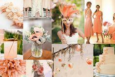 peach inspiration board for #brides decor #wedding