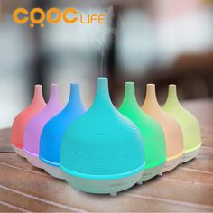 CRDC 500ML Aromatherapy Essential oil Diffuser Air humidifier Ultrasonic Cool Mist with Color LED light and Auto Timer for Home