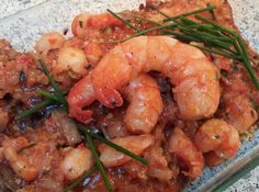 Spicey Salmon and Scampi à la SoeReiMas with Butter Dille Rice and  Green Veggies