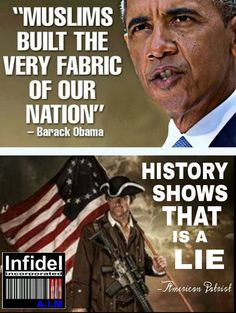 He needs to read a history book. Plus he keeps proving he really is a muslim.