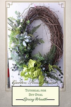 Longing for a beautiful spring wreath that will last all summer, then this tutorial is for you! DIY Oval Spring Wreath