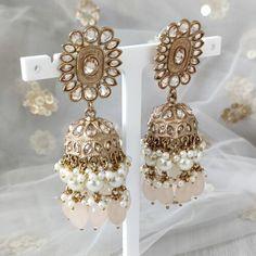 Jhumki Earrings, Dangle Earrings, Ivory Paint, Dangles, Pearls, Stone, Outfit, Jewelry, Fashion