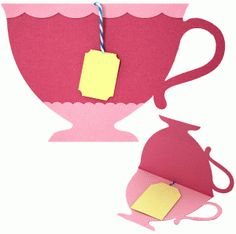 amanda mcgee tea cup card-----------------------I think I'm in love with this shape from the Silhouette Online Store!