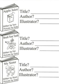Parts of a Book Coloring Sheet and Work Sheet Pre k-4th
