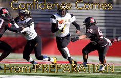 Confidence Comes From Preparation! This not only applies to #YouthSports, this applies to life! #MondayMotavation