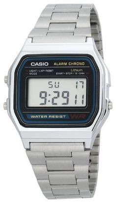 digital watch revolution showed up in 1980s! pioneered by Casio Men's A158W-1 Classic Digital Bracelet Watch