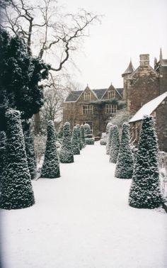 Hanham Front Garden in Snow Winter scene of my dream home I Love Winter, Winter Snow, Winter Time, Winter Season, Winter Christmas, Hirsch Illustration, Winter Scenery, Winter Magic, Winter's Tale
