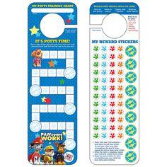 Paw Patrol Potty Training Chart & Stickers, Multicolor
