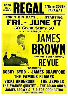 'James Brown And His Sensational Review' - Fantastic A4 Glossy Print Taken From A Vintage Concert Poster by Unknown http://www.amazon.co.uk/dp/B00MHBYXQM/ref=cm_sw_r_pi_dp_6SXmvb170TF2P