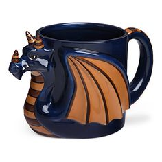 Dark Roast Dragon Mug ($13) ❤ liked on Polyvore featuring home, kitchen & dining, drinkware, white mugs, white coffee mugs, thinkgeek, dragon coffee mug and dragon mug