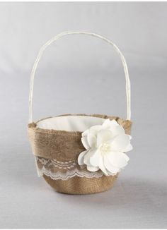 Rustic Garden Flower Girl Basket