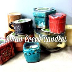 We love the pottery, but it's the scents that keep us going back to Swan Creek Candles!