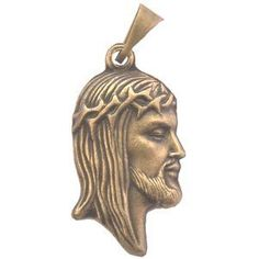 "Face with Crown of Thorns medal - Small - Bronze (2.5cm-1"") Rosary Supplies - Medals / Necklace Pendants. $1.77. This medal is made in Italy. Shows out Lord's face from the side wearing a Crown of thorns. Measures 1 inch without the loop.. If you do have a special request, email us please. You can check our Amazon store for more information and Phone number needed"