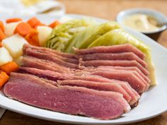 Corned Beef Brisket, Potatoes, Cabbage, and Carrots for St. Patrick's Day Recipe – Famous Last Words Homemade Corned Beef, Cooking Corned Beef, Corned Beef Recipes, Pork Recipes, Cabbage And Potatoes, Beef And Potatoes, Corn Beef And Cabbage, Braised Cabbage, Mashed Potatoes
