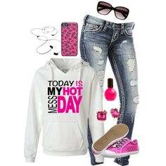 """""""Hot mess day"""" by rachel-rae812 on Polyvore"""