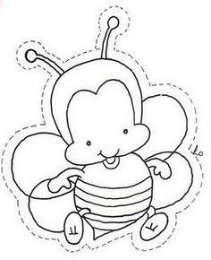 fichas para trabajar la primavera coloring pages bees