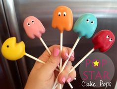 Pac Man cake pops