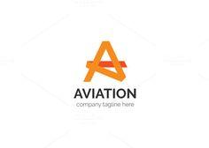 Aviation Letter A Logo by XpertgraphicD on Creative Market Badge Template, Logo Design Template, Logo Templates, Ac Logo, Music Festival Logos, Logo Design Inspiration, Design Ideas, Letter Form, Construction Logo