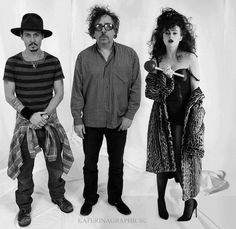 golden three - Johnny Depp,Tim Burton,Helen Bonham Carter