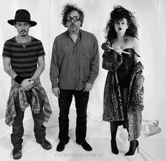 golden three - Johnny Depp,Tim Burton,Helen Bonham Carter