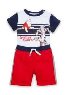 Disney  2-Piece Pooh-and-Friend Bodysuit and Short Set