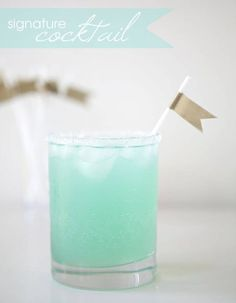 Cocktail bleu turquoise