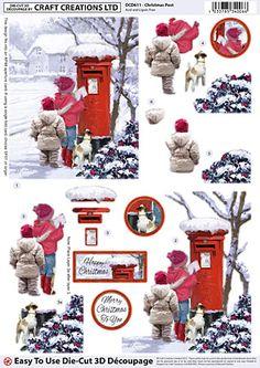 Craft Creations A4 die cut decoupage - Christmas Post, children