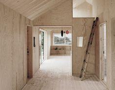Johannes Norlander Arkitektur - Gothenburg - Sweden - Small House - Interior - Humble Homes Plywood Interior, Plywood Walls, Plywood House, Plywood Ceiling, Pine Plywood, Contemporary Architecture, Interior Architecture, Cottage Renovation, House Renovations