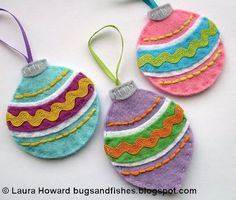 Bugs and Fishes by Lupin: How To: Vintage Felt Baubles