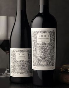 Foretell Wine Label and Package Design by CF Napa Brand Design Wine Bottle Design, Wine Label Design, Wine Bottle Labels, Packaging Design, Branding Design, Etiquette Vintage, Wine Photography, Custom Bottles, Wine Brands
