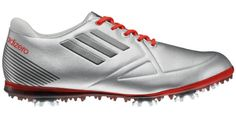 pretty nice a1bf2 ad0cd adidas Women s Adizero Tour Golf Shoe,Metallic Silver Running White Coal  Dress Skirt