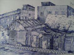 Landscape  drawing. media: gelpen