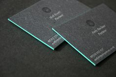 Edge Painted Letterpress Business Cards by blush°°