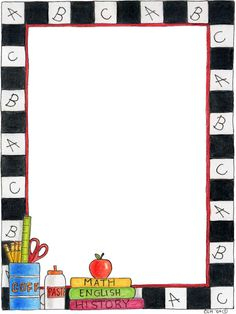 free school themed border paper | back to school bulletin board writing paper template school stuff
