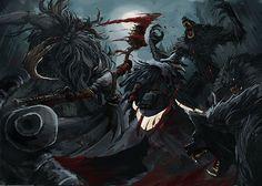 Bloodborne blood party fan art