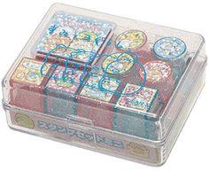 AmiAmi [Character & Hobby Shop] | Sumikko Gurashi - Stamp Set Mini: Red & Blue(Back-order)