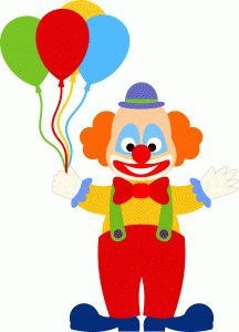 Cute clown,-------------------------I think I'm in love with this shape from the Silhouette Online Store!