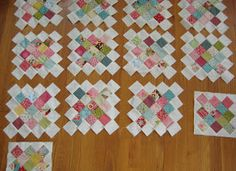 The Yarnarian: Granny square quilt tutorial. Example of granny square quilt blocks