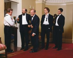 The Men of The West Wing (also, let's all take a moment to appreciate Josh Lyman with his undone bow tie, shall we?)