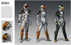 Nasa's Spacesuit: Doxus #37, Concept by Oscar Cafaro : ImaginaryTechnology