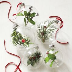 Oh this sounds so neat! Making this with kids would be super fun. - Nature Ornaments and more on MarthaStewart.com