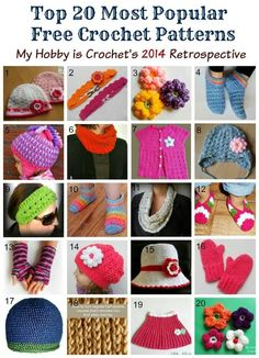 Top Free Crochet Patterns of 2014
