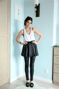 Staying Single: A Lesson in Layering Leather | Man Repeller